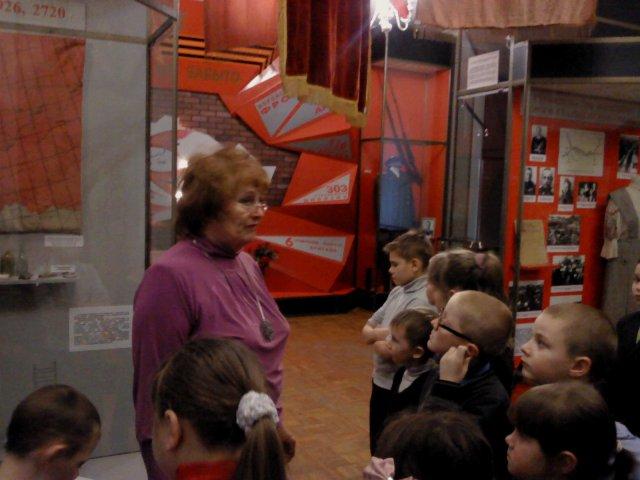 Экскурсия в краеведческий музей г.Старый Оскол, посвященная 71-ой годовщине освбождения города от фашистских захватчиков.
